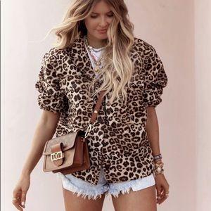 ANINE BING | Flynn leopard jacket